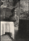 view A Japanese woman sitting at table. 1905 digital asset number 1