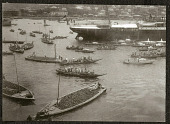 view Small Japanese barges in harbor, 1905 digital asset number 1
