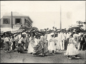 view Iloilo City: Parade of young girls, possibly a school group. August 14-15, 1905 digital asset number 1