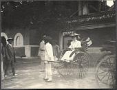 view Beijing: Alice Roosevelt in a rickshaw digital asset: Beijing: Alice Roosevelt in a rickshaw