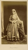 view Arpee Album: Photograph of a Young Woman with Elaborate Costume [graphic] digital asset number 1