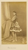 view Arpee Album: Photograph of a Young Woman with Elaborate Costume digital asset: Arpee Album: Photograph of a Young Woman with Elaborate Costume [graphic]