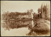 view Photograph of Kakh-i Saltanat-abad (Saltanat-Abad Palace), from Inside the Garden digital asset: Photograph of Kakh-i Saltanat-abad (Saltanat-Abad Palace), from Inside the Garden [graphic]