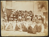 view Photograph of a Group of Attendants at a Religious Gathering digital asset: Photograph of a Group of Attendants at a Religious Gathering [graphic]