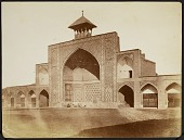 view Photograph of Iwan inside the courtyard of Masjid-i Shah (al-Nabi Mosque), Qazvin (Iran) digital asset: Photograph of Iwan inside the courtyard of Masjid-i Shah (al-Nabi Mosque), Qazvin (Iran) [graphic]