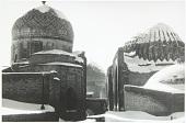 view Shah-i-Zinda under a layer of snow, Samarkand, Uzbekistan, 1978 digital asset number 1