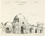 view Kabuli Bagh Mosque, Panipat, India 1978. [drawing] digital asset number 1