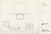 view Hamam Plan, Roof Plan and Section, Babur's Lotus Garden, Dholpur, 1985 [Located to Map Case Drawer 65] digital asset: Hamam plan, roof plan and section, Babur's Lotus Garden, Dholpur, 1985. [drawing]