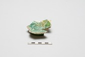 view Sherd, frit body; turquoise-green glaze; incised digital asset number 1