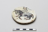 view Stone-paste disk fragment of a rider digital asset number 1