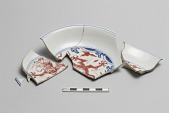 view Flat dish (in fragments; four pieces rejoined) digital asset number 1