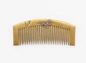 view Comb with decoration of butterflies digital asset number 1