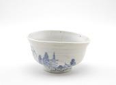 view Tea bowl with landscape design digital asset number 1
