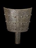 view Hollow shaft bell (<em>nao</em>) with taotie masks and dragons digital asset number 1