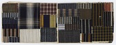 """view Daifukucho (""""lucky notebook""""); album of striped textile scraps digital asset number 1"""