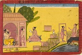 view Lakshmana at the hermitage, folio from a Ramayana digital asset number 1