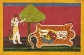 view Shiva and Parvati on a tiger skin: Anakūl Nayaka folio from a <em>Rasamanjari</em> digital asset number 1
