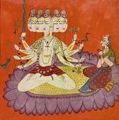 view Sadashiva worshipped by Parvati digital asset number 1