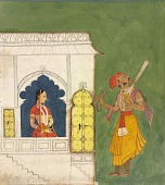 view A woman gazing at a warrior digital asset number 1
