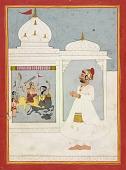 view Thakur Ajit Singh worships the goddess Durga digital asset number 1