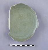 view Base fragment of dish, carved; splayed foot-rim digital asset number 1
