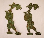 view Pair of plaques showing acrobats digital asset number 1