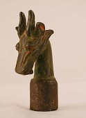 view Finial in form of a stag's head digital asset number 1