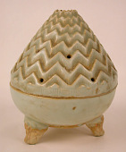 view Tripod incense burner in the form of a mountain (boshanlu) digital asset number 1