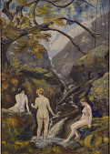 view Mountain Stream (Three Nudes At A Mountain Creek) digital asset number 1