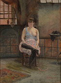 view Figure Seated digital asset number 1