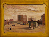 view Gas Tanks at End of 23rd Street, New York digital asset number 1