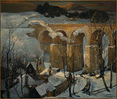 view The Great Western Railway Viaduct, St. Austell, Under the Snow - St. Ives digital asset number 1