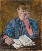view Young Girl Reading (Jeune Fille Lisant) digital asset number 1