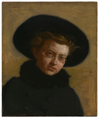 view Portrait of Lillian Hammit (Girl in a Big Hat) digital asset number 1