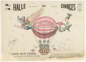 view La Halle Aux Charges. Le Nouveau Ballon Dirigeable. La Belle Alphonsine. 14 Septembre 1884. digital asset number 1