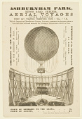 view Ashburn Park, King's Road, Chelsea. Aerial Voyages Over London, Every Day (Weather Permitting) From 1 Till 7 P.M., With the Immense and New Steam Captive Balloon, constructed on the same system as that which acted with such success at the Universal Exhibition of 1867, in Paris. digital asset number 1