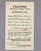 view Card, Membership, Falcons, Dean I. Lamb digital asset number 1