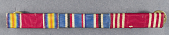 view Ribbon Bar, WWII Victory, American Campaign, and Army Good Conduct Medals digital asset number 1