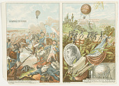 view No. 9. Les Aérostats de la 1re République.; No. 10. La Bataille de Fleurus. digital asset number 1