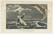 view Major Mony's Perilous Situation When he fell into the Sea July, 23, 1785, off the Coast of Yarmouth. digital asset number 1