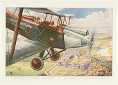 """view The First English King to Fly: King Edward VIII. Over Windsor Castle. From the Painting made for """"The Illustrated London News"""" by G.H. Davis. (Copyrighted). digital asset number 1"""