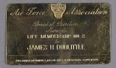 view Membership Card, Air Force Association, James H. Doolittle digital asset number 1