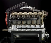 view Liberty 12 Model A (Packard), Moss Turbosupercharged, V-12 Engine digital asset number 1