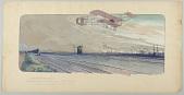 view Londres-Manchester. Paulhan parcourt les 298km sur son biplan Farman muni du moteur Gnome, maģneto Bosom. digital asset number 1