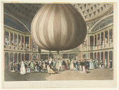 view A Representation of Mr. Lunardi's Balloon, as Exhibited in the Pantheon, 1784. To the Right Honorable Frederick Earl of Carlisle, Knight of the most Ancient Order of the Thistle, &c. &c. This plate is most respectfully dedicated by his Lordship's most devoted and obedient and humble servant F.G. Byron. digital asset number 1