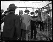 """view Events, 1908, Fort Myer (VA), US Army (Baldwin) Airship """"Signal Corps No. 1"""" (SC-1) Trials. [photograph] digital asset number 1"""
