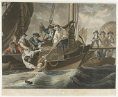 view The Preservation of Sir Richard MacGuire who fell into the Sea (by the descent of a Balloon) off the Coast of Ireland, on the 12th of May 1785. digital asset number 1