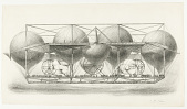 view Untitled [From another print of the aircraft: Navigation Aérienne. Locomotive-aérostatique-Pétin à double point de suspension stable.] digital asset number 1