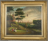 view Untitled [View of Balloon from Observatory Hill, Greenwich] digital asset number 1
