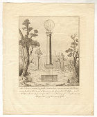 view The Column erected by public Authority to commemorate the Event, and placed in the Forest of Guines, on the Spot where Dr. Jeffries and M. Blanchard alighted after their aerial Voyage from England into France, the 7th of January 1785. digital asset number 1